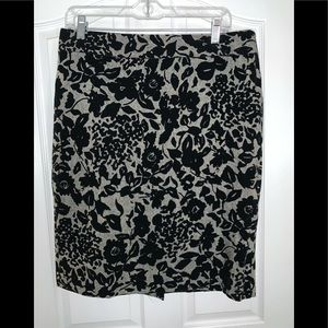 Ann Taylor Velvety Patterned Pencil Skirt